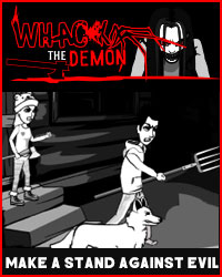 make a stand against evil in whack the demon